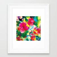 hawaiian Framed Art Prints featuring Hawaiian jungle by Akwaflorell