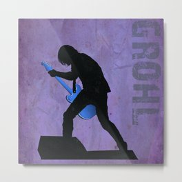 Grohl- Rock Wall 1 of 16 Metal Print