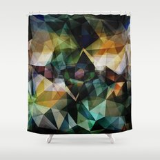 Colorful Geometric Abstract Shower Curtain