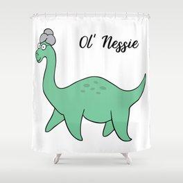 Ol' Nessie Shower Curtain