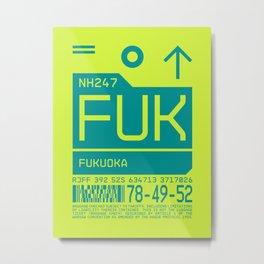 Luggage Tag C - FUK Fukuoka Japan Metal Print