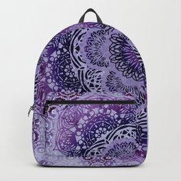 Lilac Boho Brocade Mandala Backpack