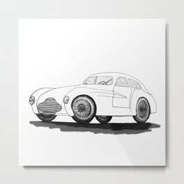 retro car on white background Metal Print