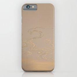Kamisaka Sekka - Bamboo and Waves 1 iPhone Case