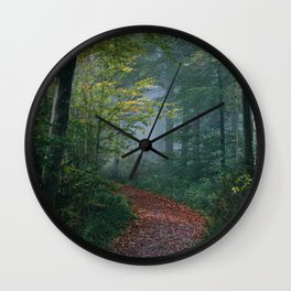 The Forest Path (Color) Wall Clock