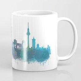 Madrid spain city splattered watercolor skyline v4bb Coffee Mug