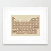 the neighbourhood Framed Art Prints featuring Periodic Neighbourhood by Salih Gonenli