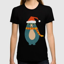 Christmas bear and two little owls T-shirt