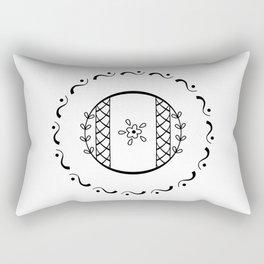 O - decorative monogram. Rectangular Pillow