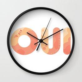 Je dis oui au don d'orgasmes - Modèle vagues Wall Clock