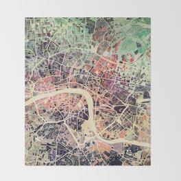 London Mosaic Map #1 Throw Blanket