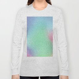 Simply Metallic in Holographic Rainbow Long Sleeve T-shirt