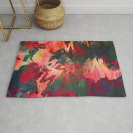 It's Complicated, Abstract Leaves Rug