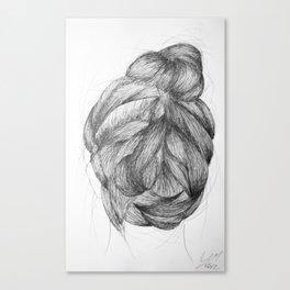 Hair three Canvas Print
