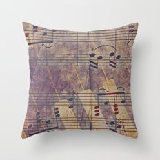 Music, vintage look Throw Pillow