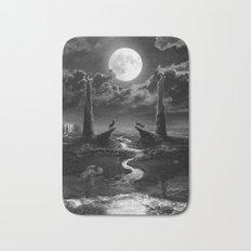 XVIII. The Moon Tarot Card Illustration Bath Mat