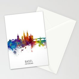 Basel Switzerland Skyline Stationery Cards