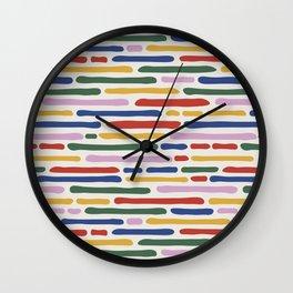 Seamless Summer Pattern Wall Clock