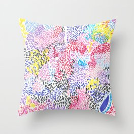 United by the Dots Throw Pillow