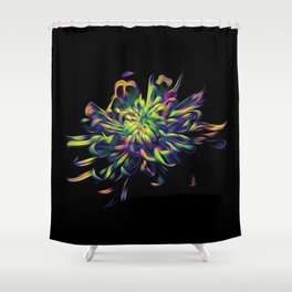 Rainbow Floral Shower Curtain
