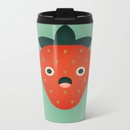 Strawberry Metal Travel Mug