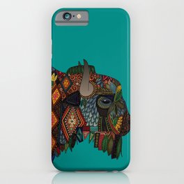 bison teal iPhone Case