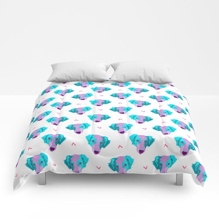 australian shepherd - wht pattern Comforters