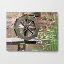 Water Wheel Metal Print