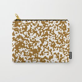 Small Spots - White and Golden Brown Carry-All Pouch