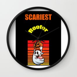 Scariest Roofer Wall Clock