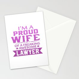 I'M A PROUD LAWYER'S WIFE Stationery Cards