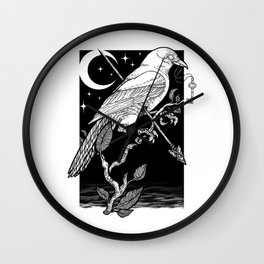 Night Crow Wall Clock