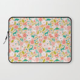 Dinosaurs + Unicorns in Pink + Teal Laptop Sleeve