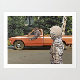 Decline of the Planet of the Apes Art Print