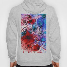 Bold Modern Flower Art - Wild Flowers 3 - Sharon Cummings Hoody