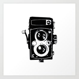 Big Vintage Camera Love - Black Art Print