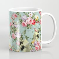 flora Mugs featuring Flora by mentalembellisher