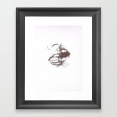 Passionate Kiss Framed Art Print