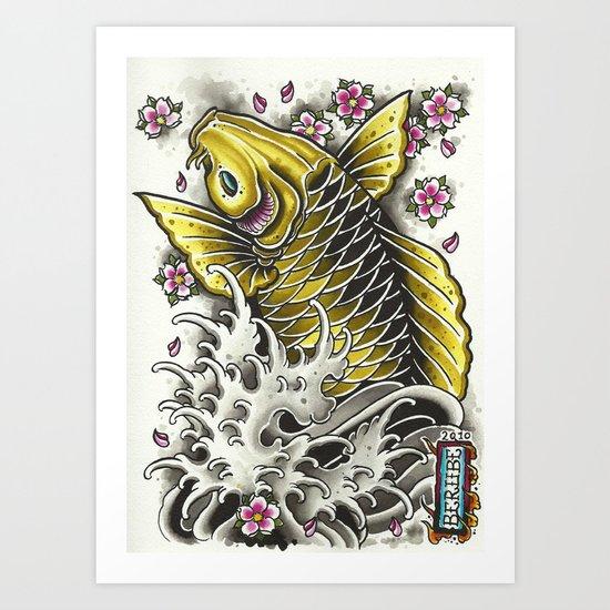upstream Art Print