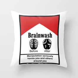 Brainwash Throw Pillow