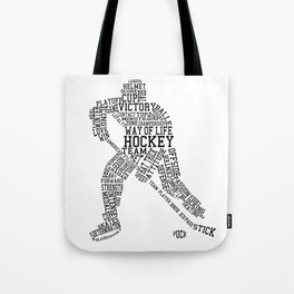 Hockey Words Tote Bag