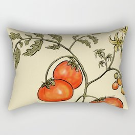 Tomato Botanical Rectangular Pillow