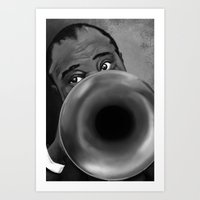 louis armstrong Art Prints featuring Louis Armstrong by Letora Anderson Art