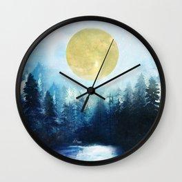 Winter Night 3 Wall Clock