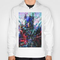 optimus prime Hoodies featuring OPTIMUS PRIME by Raditya Giga