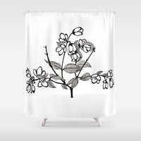 jasmine Shower Curtains featuring Jasmine by Dianadia