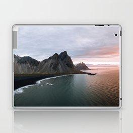 Iceland Mountain Beach Sunrise - Landscape Photography Laptop & iPad Skin