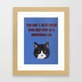 The Red Dot Framed Art Print