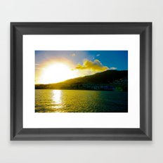 Island Sun Framed Art Print