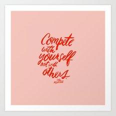 Compete Art Print
